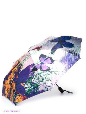 Зонт Flioraj. Цвет: фиолетовый, зеленый, серый