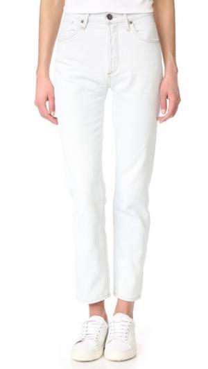 Непринужденные прямые джинсы Benefit с высокой посадкой GOLDSIGN. Цвет: голубой