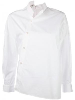 Рубашка с боковой застежкой Toteme. Цвет: белый
