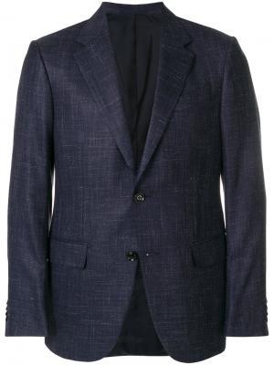 Классический пиджак Ermenegildo Zegna. Цвет: синий