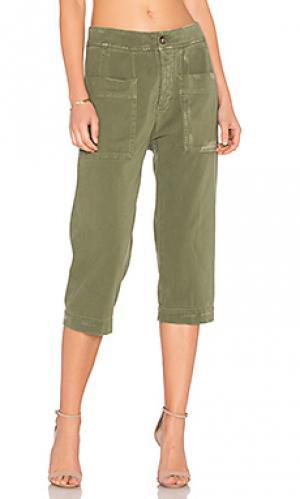 Укороченные рабочие брюки James Perse. Цвет: зеленый