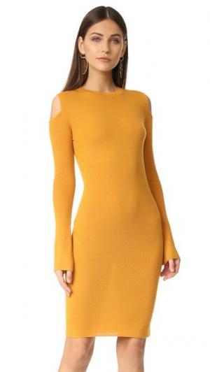 Платье с открытыми плечами Edition10. Цвет: маслянистый ром