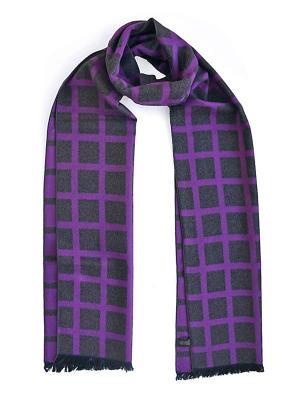 Мужской шарф LANYINGDI ША-19 30*180 100% шелк. Цвет: фиолетовый, серый