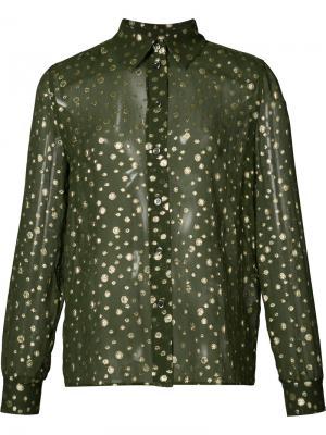 Прозрачная рубашка Vanessa Seward. Цвет: зелёный