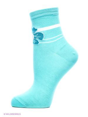 Носки, 2 пары Cascatto. Цвет: голубой