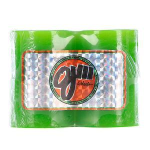 Колеса для скейтборда лонгборда OJ III Hot Juice Mini Green 78a 55 mm