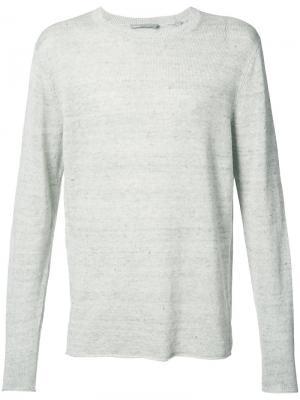 Вязаный свитер Vince. Цвет: серый