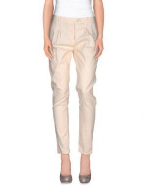 Повседневные брюки CAVALLERIA TOSCANA. Цвет: бежевый