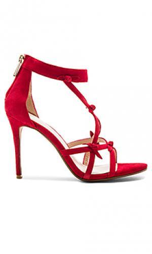 Туфли на каблуке blossom RAYE. Цвет: красный