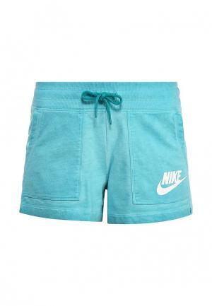 Шорты спортивные Nike. Цвет: бирюзовый