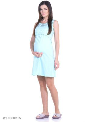 Комплект женский для беременных и кормящих Hunny Mammy. Цвет: бирюзовый, серый