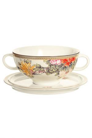Суповая чашка на блюдце 0,5 л IMARI. Цвет: мультицвет