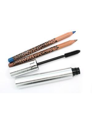 Набор YLLOZURE (карандаш для век2 шт+тушь ) ИЛЛОЗУР. Цвет: черный, золотистый, синий