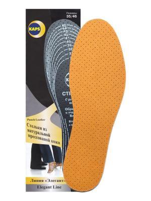 Стельки Punch Leather KAPS. Цвет: коричневый