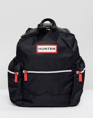 Hunter Черный нейлоновый рюкзак Original. Цвет: черный