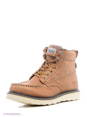 Ботинки Solid. Цвет: светло-коричневый