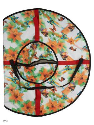 Санки надувные Ватрушка Метиз. Цвет: светло-зеленый, белый, светло-желтый