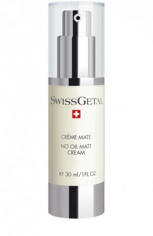Матирующий крем без масляной основы Swissgetal. Цвет: бесцветный
