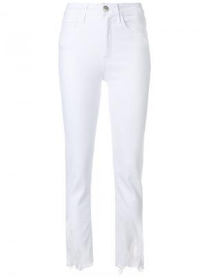 Состаренные джинсы 3X1. Цвет: белый