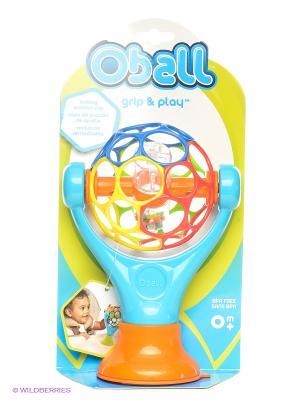 Развивающая игрушка на присоске Oball. Цвет: голубой