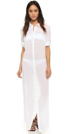 Пляжное платье-рубашка Thayer. Цвет: белый