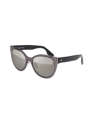 Солнцезащитные очки McQueen. Цвет: серый