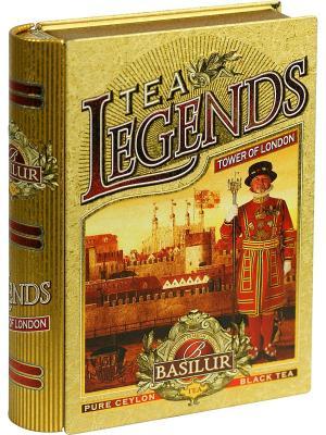 Чай Basilur Чайные легенды-Лондонский Тауэр, 1 КНИГА. Цвет: черный