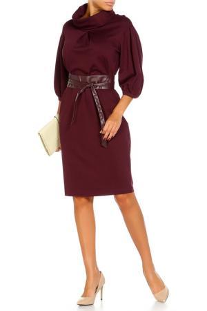 Платье с японским поясом Argent. Цвет: вишневый