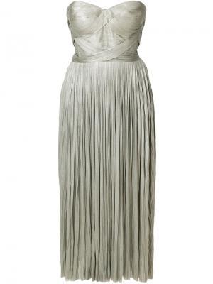 Платье Aziyade Maria Lucia Hohan. Цвет: металлический