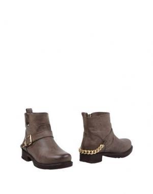 Полусапоги и высокие ботинки FRANCESCO MILANO. Цвет: свинцово-серый