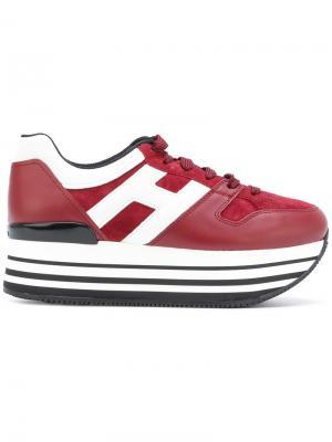 Maxi H222 sneakers Hogan. Цвет: красный