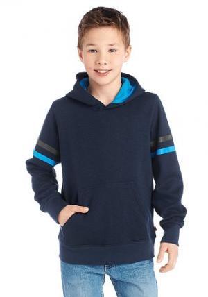 Толстовка с капюшоном от  для мальчиков CFL. Цвет: синий морской