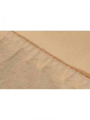 Простыня на резинке махровая 160х200 ECOTEX. Цвет: бежевый