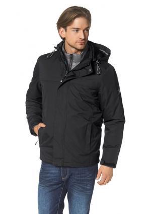 Куртка 3 в 1 POLARINO. Цвет: черный + серый