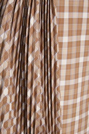 Хлопковая юбка Ruban. Цвет: коричневый