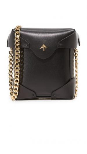Миниатюрная объемная сумка Pristine с золотой цепочкой MANU Atelier