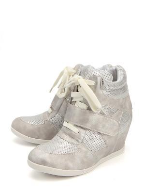 Ботинки Flois. Цвет: серебряный