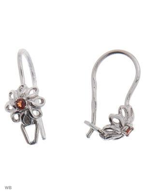 Серьги детские ACCENT jewelry. Цвет: коричневый