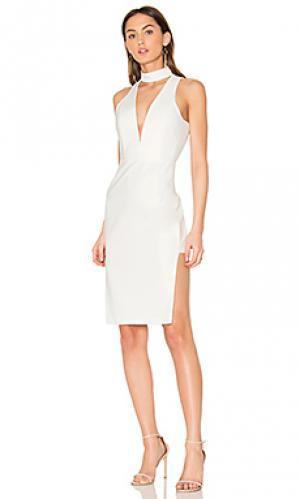 Платье с чокером и глубоким вырезом Michelle Mason. Цвет: ivory