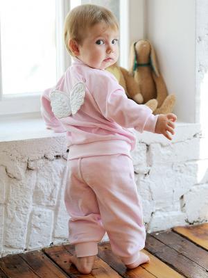 Кофта Lucky Child. Цвет: бледно-розовый