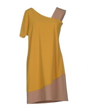 Короткое платье TRY ME. Цвет: охра