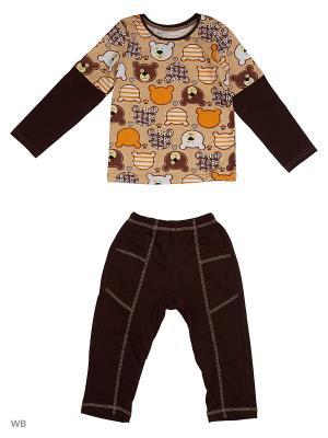 Пижамы KIDONLY. Цвет: светло-коричневый