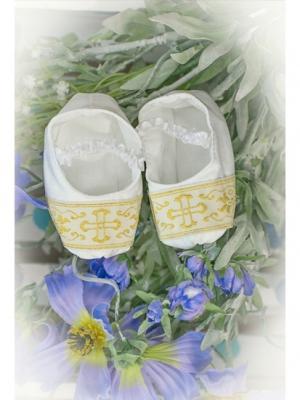 Пинетки для крещения Alivia Kids. Цвет: белый