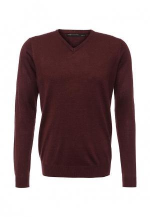Пуловер Piazza Italia. Цвет: бордовый