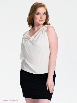 Платье SISTE'S. Цвет: светло-бежевый, черный