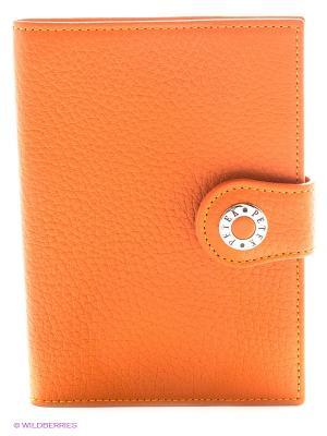 Обложка на паспорт Petek. Цвет: оранжевый