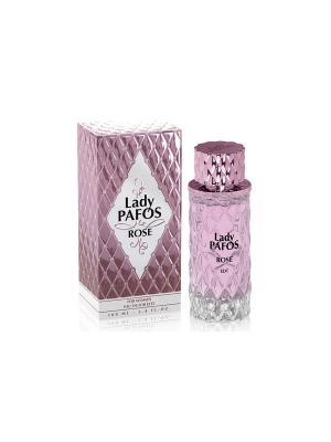 Туалетная вода Lady Pafos Rose 100 ml. Цвет: прозрачный