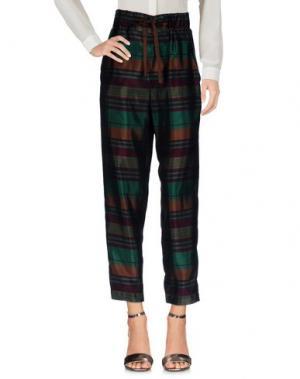 Повседневные брюки MANILA GRACE. Цвет: темно-зеленый