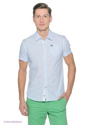Рубашка Fresh. Цвет: голубой, белый