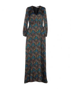 Длинное платье ALICE + OLIVIA. Цвет: лазурный